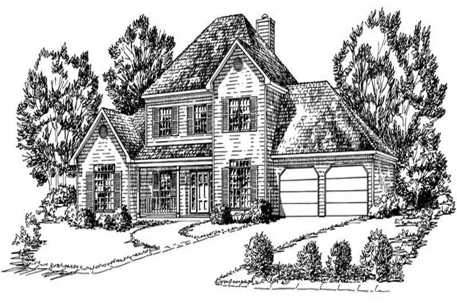 4-Bedroom, 2167 Sq Ft Cape Cod House Plan - 164-1047 - Front Exterior