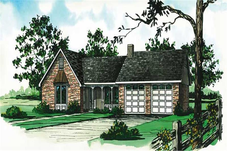 3-Bedroom, 1191 Sq Ft Country House Plan - 164-1051 - Front Exterior