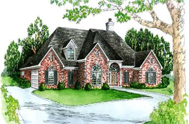 3-Bedroom, 1940 Sq Ft European House Plan - 164-1053 - Front Exterior