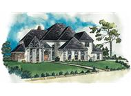 European houseplans RG3901 color rendering.