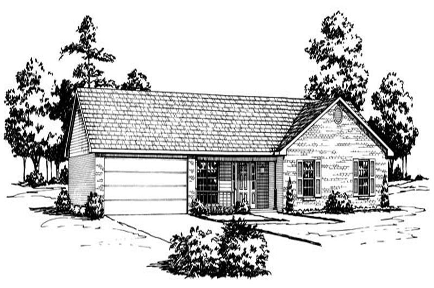 Main image for Ranch houseplans # 1768