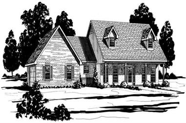 3-Bedroom, 2075 Sq Ft Cape Cod House Plan - 164-1059 - Front Exterior
