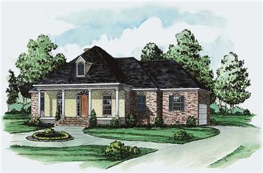3-Bedroom, 2045 Sq Ft Country House Plan - 164-1060 - Front Exterior