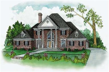 4-Bedroom, 3813 Sq Ft European House Plan - 164-1062 - Front Exterior