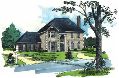 3-Bedroom, 2039 Sq Ft European House Plan - 164-1063 - Front Exterior