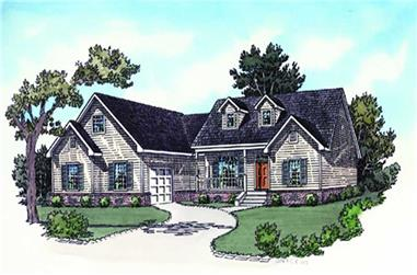 3-Bedroom, 1696 Sq Ft Country Home Plan - 164-1064 - Main Exterior