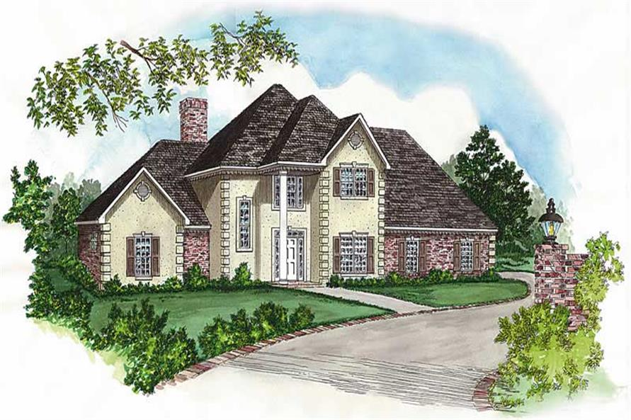 4-Bedroom, 2084 Sq Ft Country House Plan - 164-1065 - Front Exterior