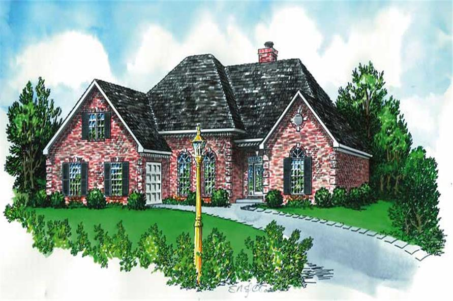 3-Bedroom, 2015 Sq Ft European House Plan - 164-1067 - Front Exterior