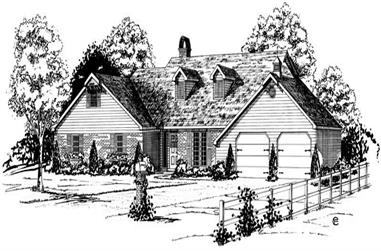 3-Bedroom, 2149 Sq Ft Country House Plan - 164-1069 - Front Exterior