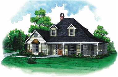 3-Bedroom, 2125 Sq Ft Country House Plan - 164-1071 - Front Exterior