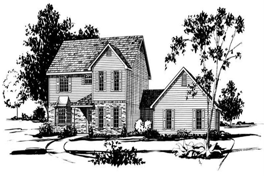 4-Bedroom, 2233 Sq Ft Country House Plan - 164-1075 - Front Exterior