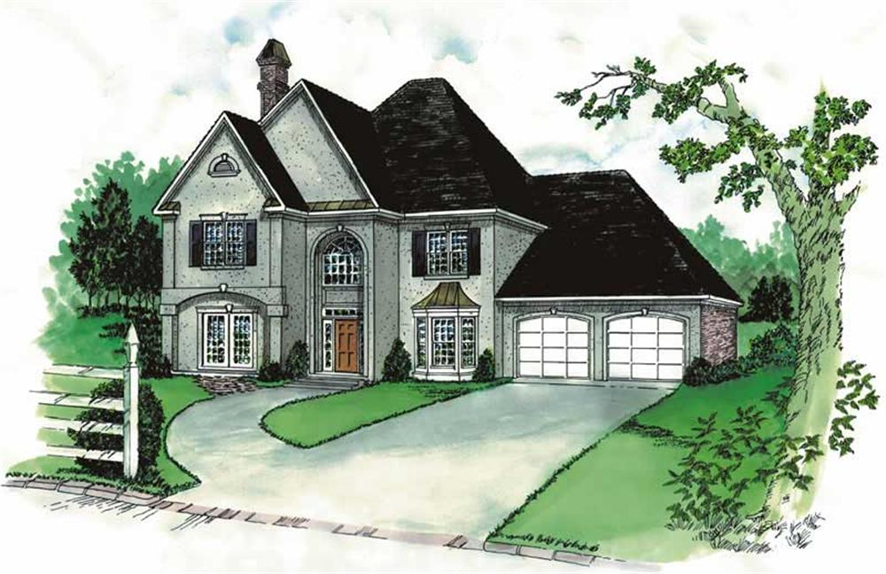 Main image for French Home plan # 1845