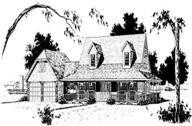 3-Bedroom, 2012 Sq Ft Country House Plan - 164-1083 - Front Exterior