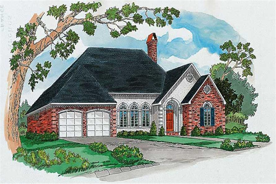 Main color image for house plan # 1814