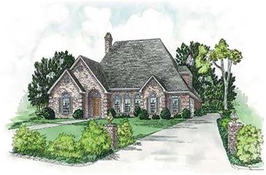 4-Bedroom, 3256 Sq Ft European House Plan - 164-1085 - Front Exterior