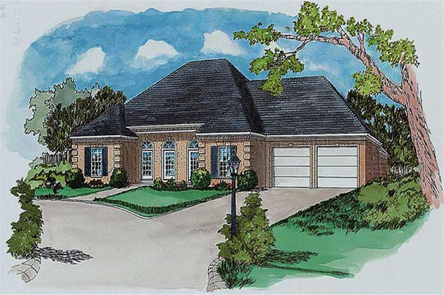Main image for classic house plan # 1817