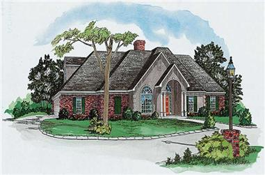 4-Bedroom, 1873 Sq Ft European House Plan - 164-1089 - Front Exterior