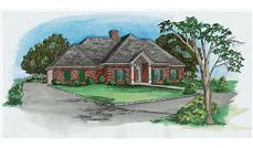 Home Plans color rendering.