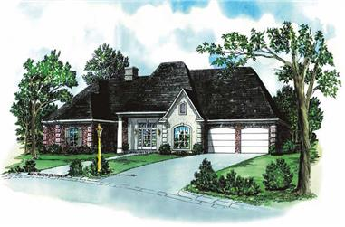 4-Bedroom, 1987 Sq Ft European House Plan - 164-1091 - Front Exterior