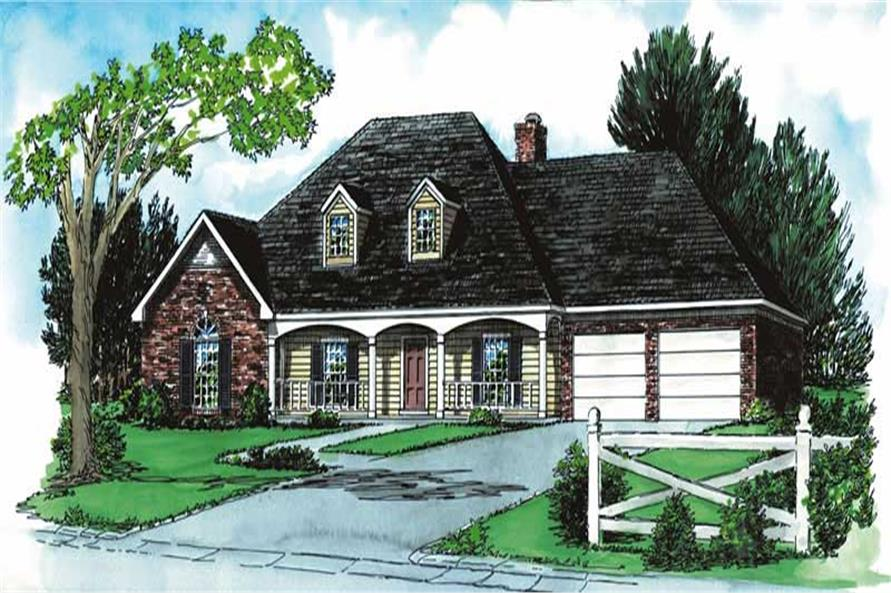 3-Bedroom, 1956 Sq Ft Country House Plan - 164-1093 - Front Exterior