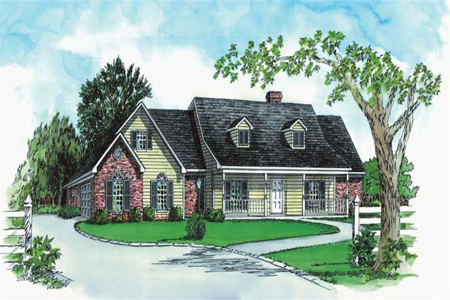 3-Bedroom, 1884 Sq Ft Country House Plan - 164-1094 - Front Exterior
