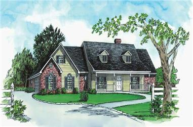 3-Bedroom, 1886 Sq Ft Country House Plan - 164-1096 - Front Exterior