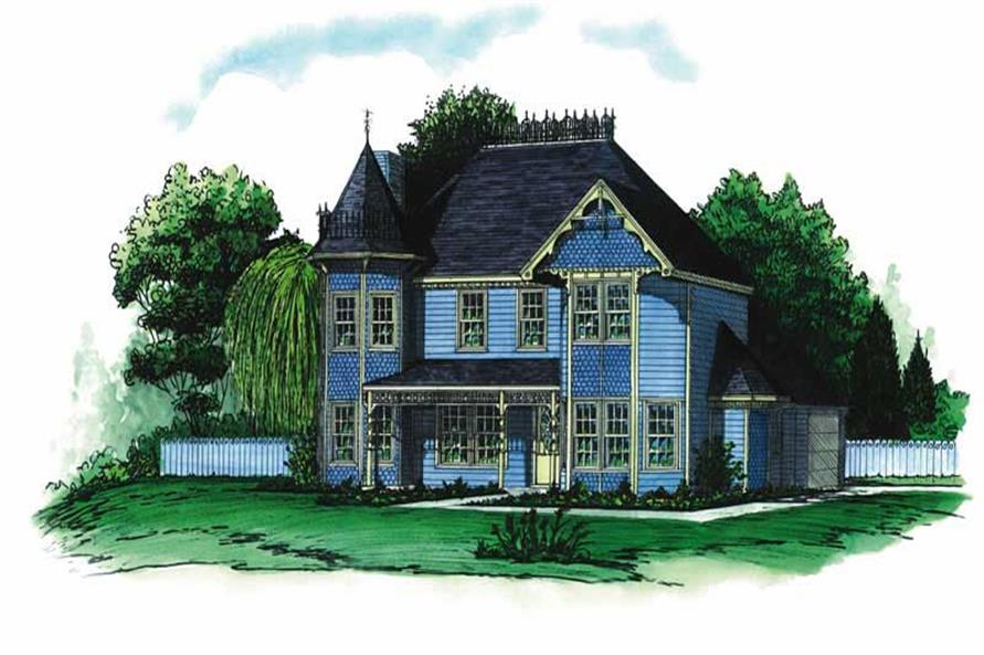 3-Bedroom, 1904 Sq Ft Victorian House Plan - 164-1097 - Front Exterior