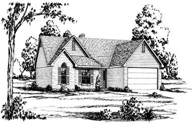 3-Bedroom, 1958 Sq Ft Country House Plan - 164-1100 - Front Exterior