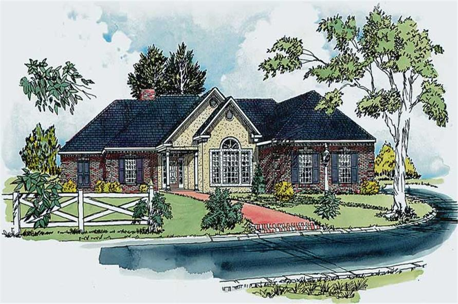3-Bedroom, 1959 Sq Ft Country House Plan - 164-1101 - Front Exterior