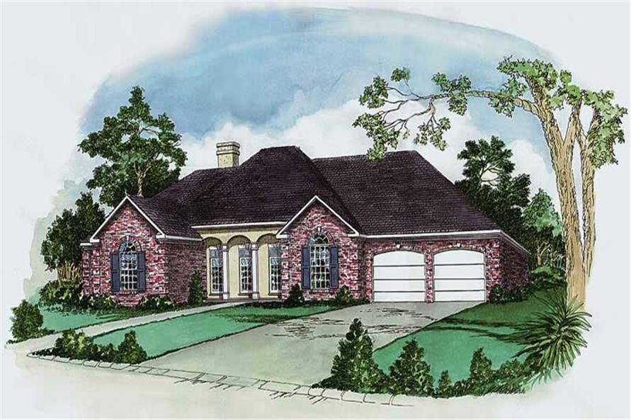 4-Bedroom, 1987 Sq Ft European House Plan - 164-1103 - Front Exterior