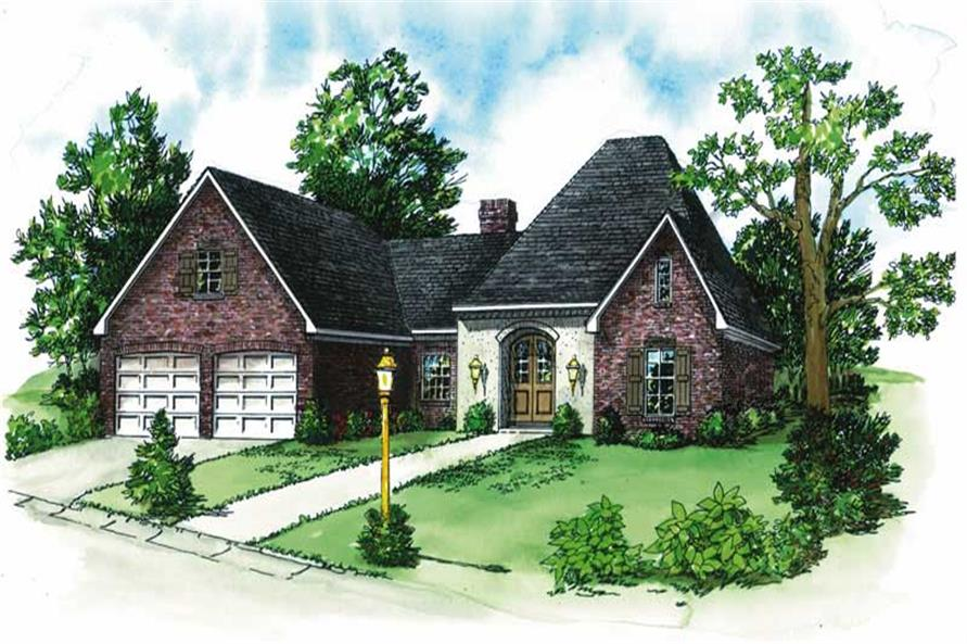 3-Bedroom, 1959 Sq Ft European House Plan - 164-1104 - Front Exterior