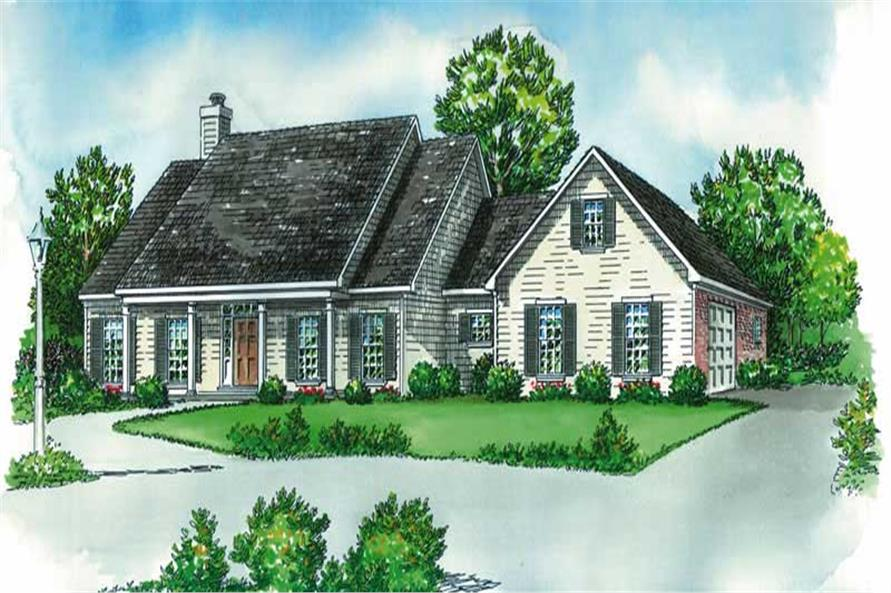 3-Bedroom, 2264 Sq Ft Country House Plan - 164-1105 - Front Exterior