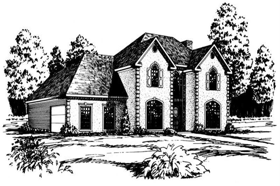 4-Bedroom, 2964 Sq Ft European House Plan - 164-1107 - Front Exterior