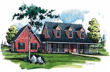 3-Bedroom, 2239 Sq Ft Country House Plan - 164-1108 - Front Exterior