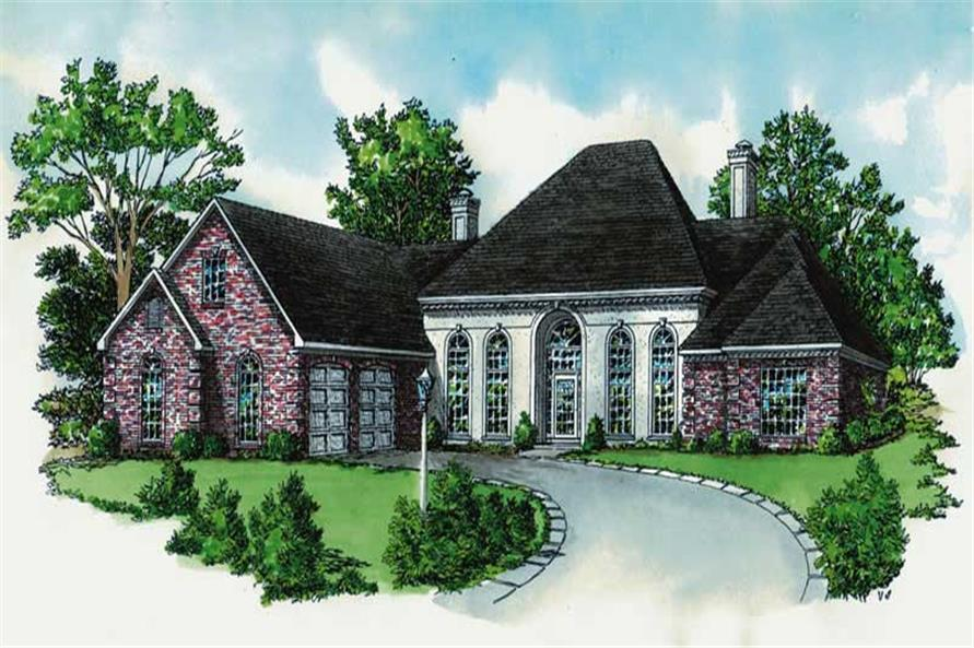 4-Bedroom, 2780 Sq Ft French House Plan - 164-1109 - Front Exterior