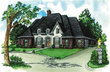 4-Bedroom, 2735 Sq Ft European House Plan - 164-1111 - Front Exterior