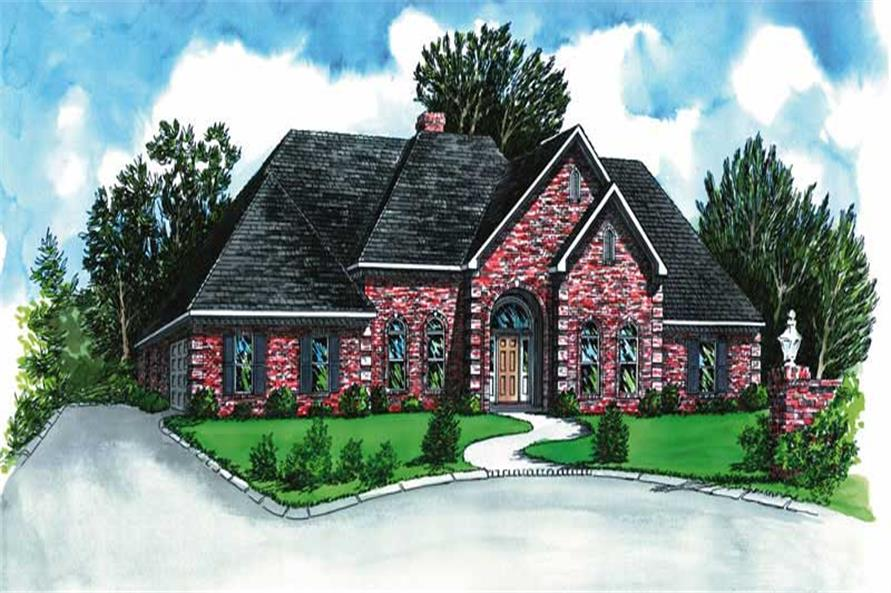 4-Bedroom, 2733 Sq Ft Country House Plan - 164-1112 - Front Exterior