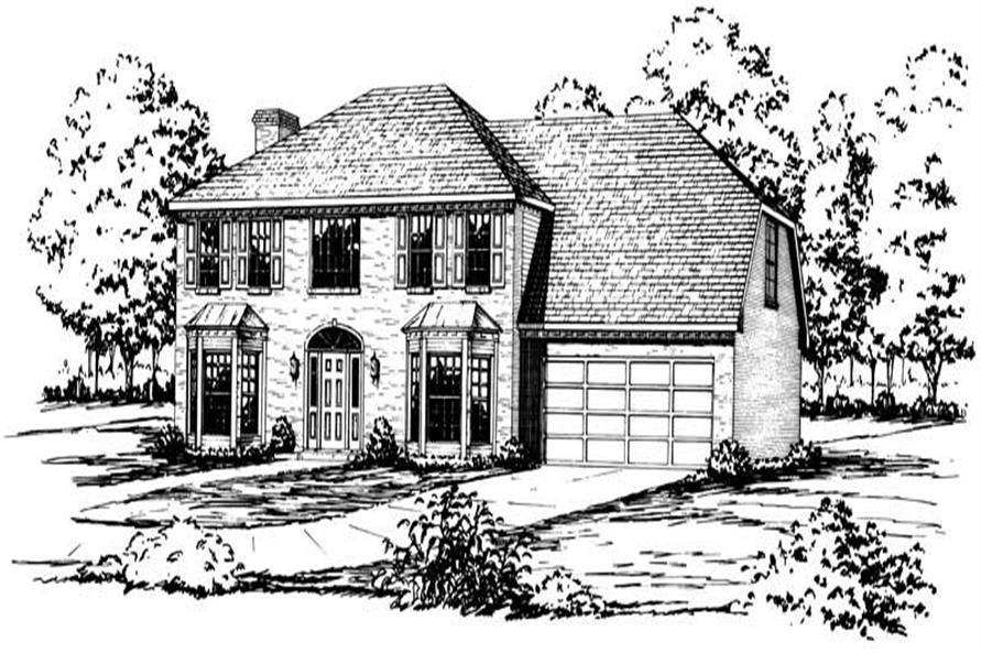 4-Bedroom, 2891 Sq Ft Colonial House Plan - 164-1113 - Front Exterior