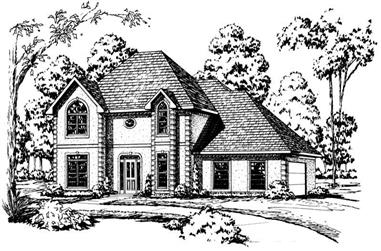 4-Bedroom, 2897 Sq Ft Country House Plan - 164-1114 - Front Exterior