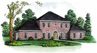 Traditional House Plans Color Rendering.