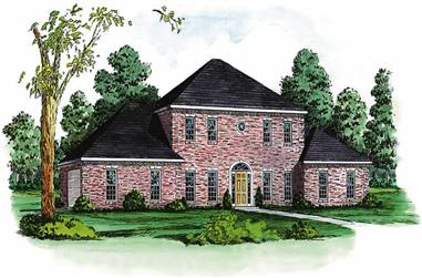 4-Bedroom, 2835 Sq Ft European House Plan - 164-1116 - Front Exterior
