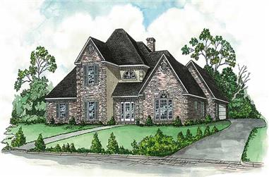 4-Bedroom, 2845 Sq Ft Country House Plan - 164-1117 - Front Exterior