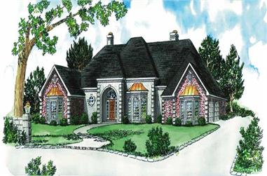 4-Bedroom, 3058 Sq Ft European House Plan - 164-1118 - Front Exterior