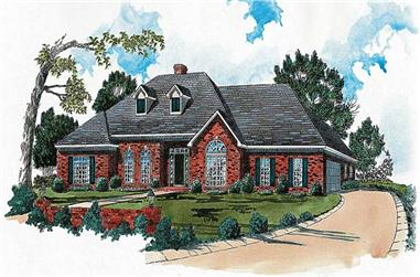 4-Bedroom, 2756 Sq Ft Country House Plan - 164-1119 - Front Exterior