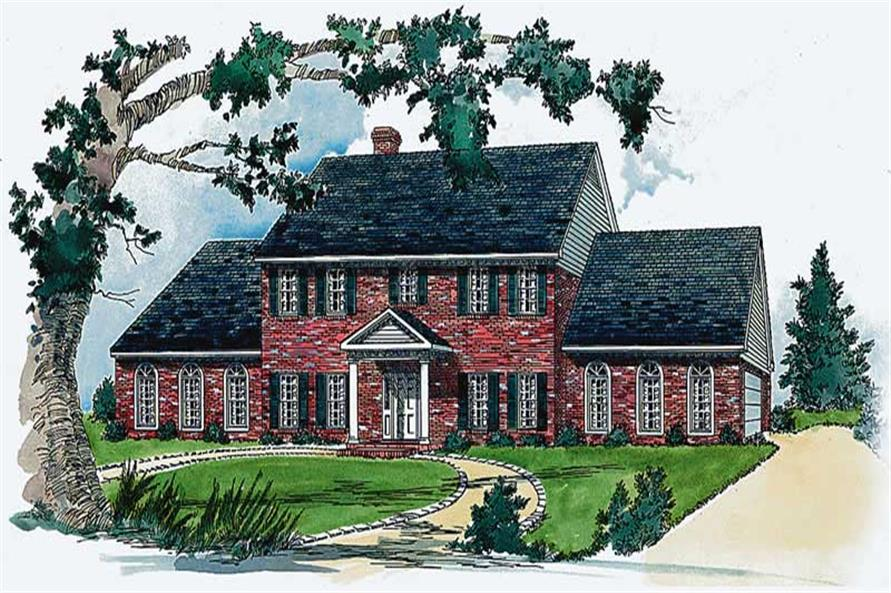 4-Bedroom, 2997 Sq Ft Country House Plan - 164-1120 - Front Exterior