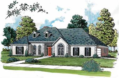 4-Bedroom, 2727 Sq Ft Country House Plan - 164-1121 - Front Exterior