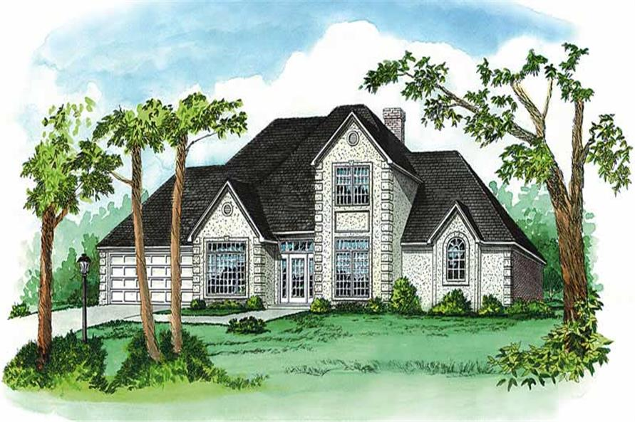 4-Bedroom, 2965 Sq Ft European House Plan - 164-1123 - Front Exterior