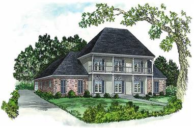 4-Bedroom, 2992 Sq Ft European House Plan - 164-1124 - Front Exterior