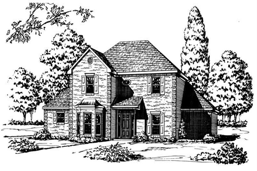 4-Bedroom, 3071 Sq Ft European House Plan - 164-1127 - Front Exterior