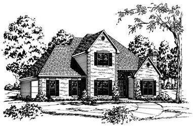 4-Bedroom, 3174 Sq Ft European House Plan - 164-1130 - Front Exterior